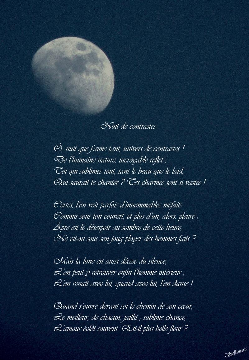 Nuit De Contrastes Stellamaris Poèmes Et Photographie